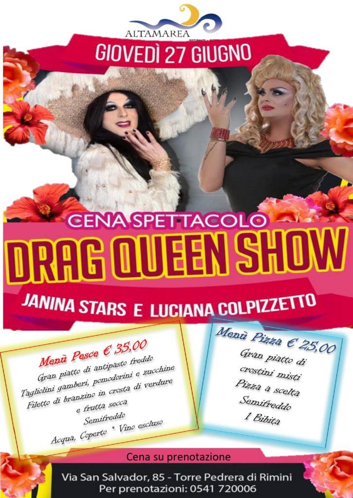 Cena spettacolo drag queen rimini